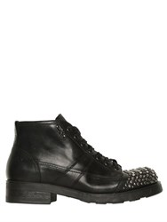 Oxs Studded Toe Leather Combat Boots