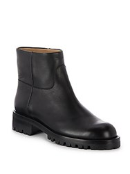 Helmut Lang Paneled Leather Boots Black
