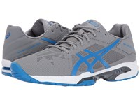 Asics Gel Solution Speed 3 Aluminum Electric Blue White Men's Tennis Shoes Gray