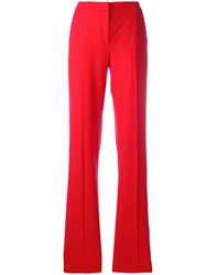 Max Mara 'Duomo' Wide Leg Trousers Red
