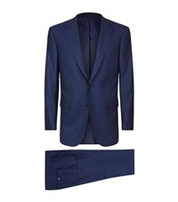 Stefano Ricci Single Breasted Suit Blue