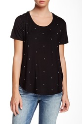 Dex Embellished Front Tee Black