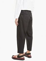 Marni Black Relaxed Cotton Trousers