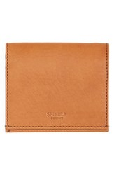 Men's Shinola Gusset Leather Card Case Brown Bourbon
