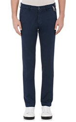 Mason's Men's Tricotine Jersey Slim Trousers Navy