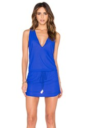 Luli Fama Cosita Buena T Back Mini Dress Blue