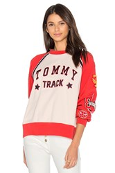 Hilfiger Collection Track And Field Raglan Sweatshirt Ivory