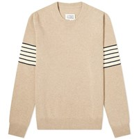 Maison Martin Margiela 14 Arm Stripe Crew Knit Brown
