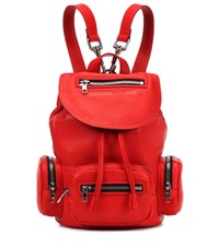 Mcq By Alexander Mcqueen Leather Backpack Red