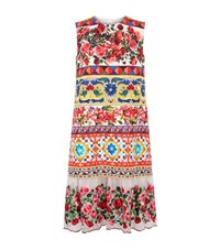 Dolce And Gabbana Tiered Embroidered Rose Hem Dress Female
