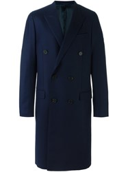 Lanvin Double Breasted Coat Blue