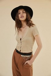 Urban Outfitters Medallion Charm Leather Belt Black