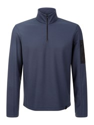 Victorinox Gefreiter Pique Half Zip Sweatshirt Sea Blue