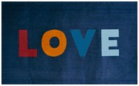 Oeuf Love Rug Navy Multi 36 X 60 Blue
