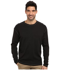 Agave Denim Anchorage L S Crew Caviar Men's T Shirt Black