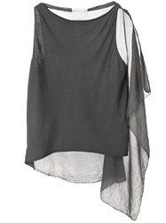 Lost And Found Ria Dunn Draped Tank Top Grey