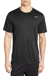 Nike Men's 'Legend 2.0' Dri Fit Training T Shirt Black Black Matte Silver