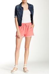 Zoa Rolled Hem Drawstring Short Pink