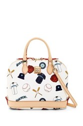 Dooney And Bourke Mariners Zip Zip Satchel White