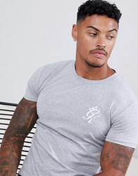 Gym King Muscle T Shirt In Grey Marl