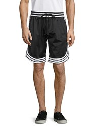 American Stitch Drawstring Striped Shorts Black