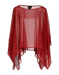 Atos Lombardini Capes And Ponchos Maroon
