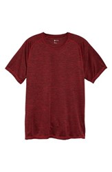 Zella Triplite T Shirt Red Yukonite Melange