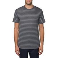 Sunspel White Charcoal Grey Crew T Shirt