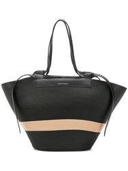 Elena Ghisellini Panelled Shopper Tote Black