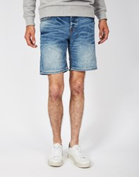 Only And Sons Loom Denim Shorts Blue