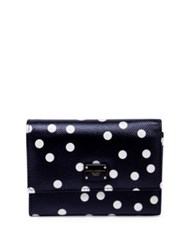 Dolce And Gabbana Polka Dot Leather French Flap Wallet