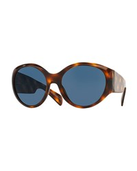 Oliver Peoples The Row Don't Bother Me Oval Sunglasses Tortoise Green