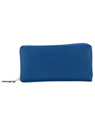 Comme Des Garcons Wallet Embossed Wallet Women Calf Leather One Size Blue