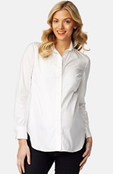 Rosie Pope Women's 'Classic' Maternity Shirt White