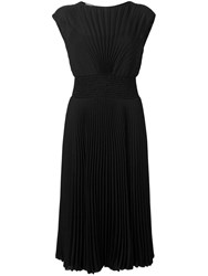 Prada Pleated Midi Dress Black