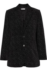 Bella Freud Allen Oversized Glittered Cotton Velvet Blazer Black