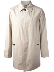 Burberry Brit Single Breasted Trench Coat Nude And Neutrals