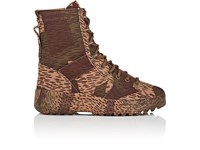 Yeezy Canvas Military Boots Brown