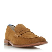 Oliver Sweeney Chatburn Suede Penny Loafers Tan
