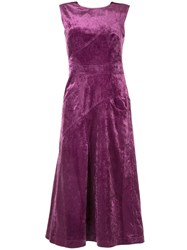 Christian Wijnants Ozra Cord Dress Purple
