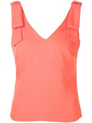 Nicole Miller Bow Detail Tank Top Yellow And Orange