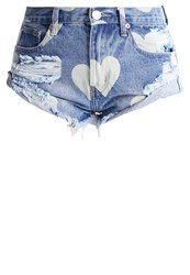 Glamorous Denim Shorts Darkblue Denim Dark Blue Denim