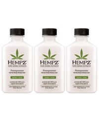 Hempz Pomegranate Herbal Body Moisturizer Trio Three Items 2 Oz From Purebeauty Salon And Spa