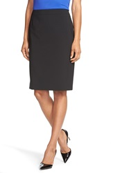 Boss 'Vilea' Stretch Wool Pencil Skirt Black