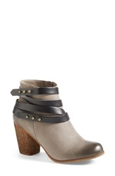 Women's Bp. 'Train' Wrap Belted Bootie Slate Black Leather