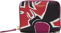 Burberry Purple And Red Leather Bodmin Wallet