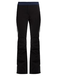 Fendi Side Striped Flared Leg Ski Trousers Black Grey