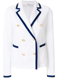 Fay Casual Double Breasted Jacket White