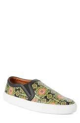 Men's Givenchy Slip On Skate Sneaker Green Multicolor Leather