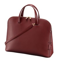 Cartier Medium Must C Leather Tote Bag Red